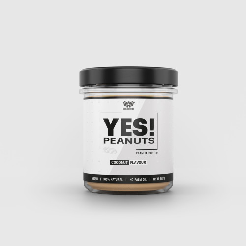 Arašídové máslo YES! Peanuts kokos 340 g - Iron Aesthetics