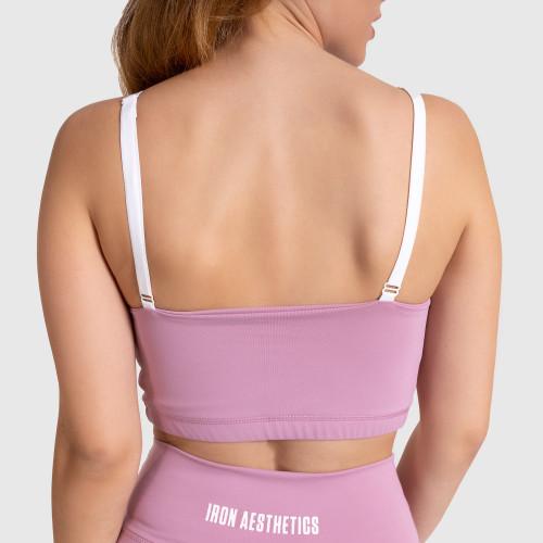 Dámska športová podprsenka Stripes - Iron Aesthetics, lilac