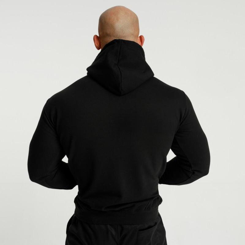 Fitness mikina bez zipu Iron Aesthetics Unbroken, černá-3