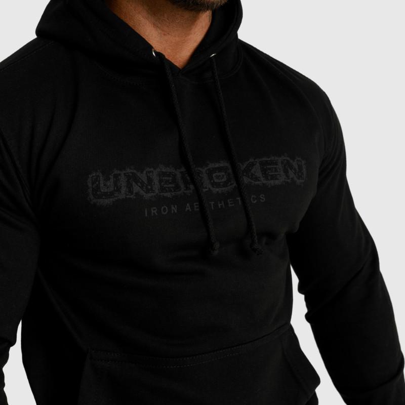 Fitness mikina bez zipu Iron Aesthetics Unbroken, černá-5