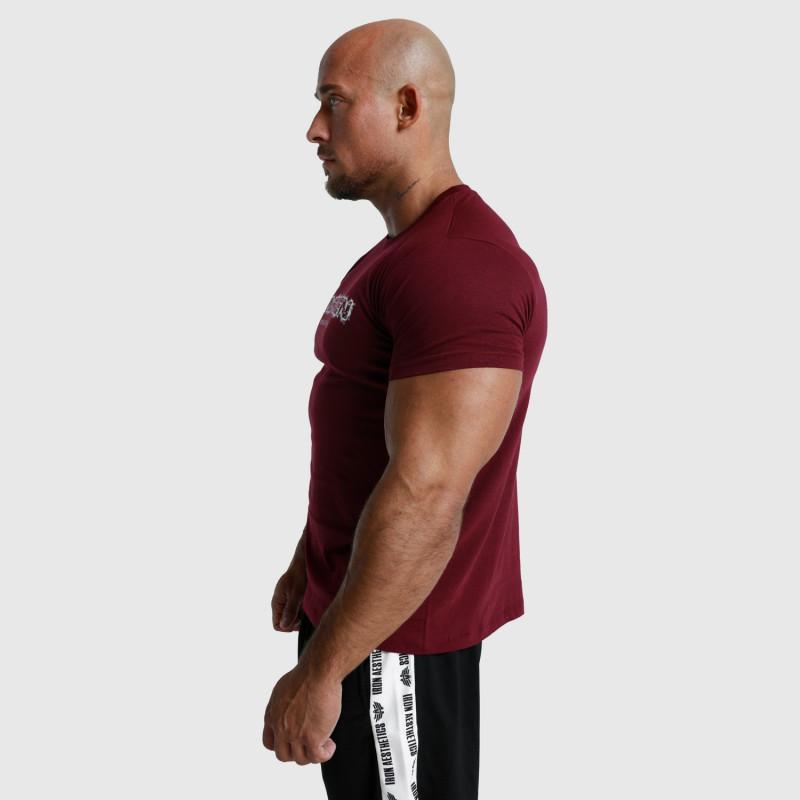 Pánské fitness tričko Iron Aesthetics Unbroken, bordové-5