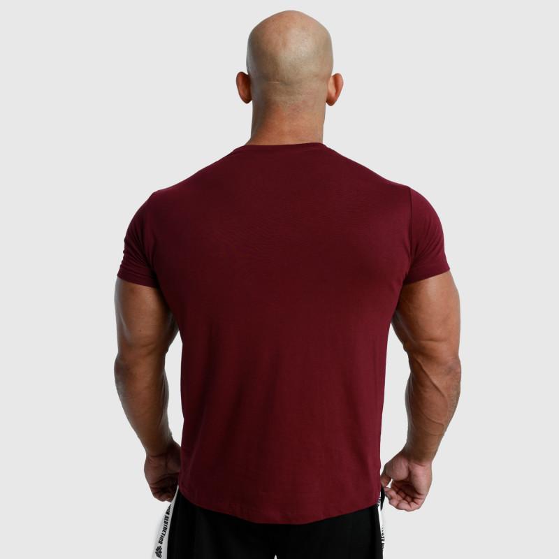 Pánské fitness tričko Iron Aesthetics Unbroken, bordové-2