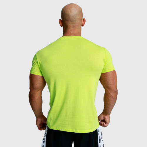 Pánske fitness tričko Iron Aesthetics Unbroken, limetkové