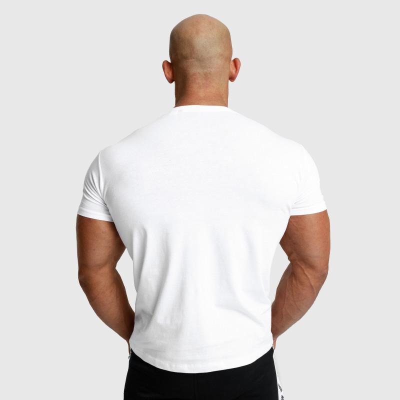 Pánské fitness tričko Iron Aesthetics Unbroken, bílé-3