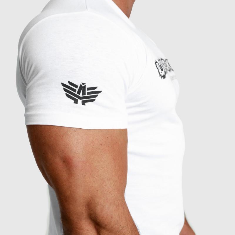 Pánské fitness tričko Iron Aesthetics Unbroken, bílé-5