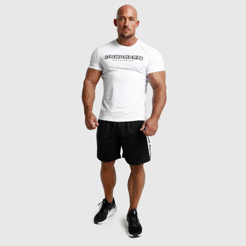 Pánské fitness tričko Iron Aesthetics Unbroken, bílé-6