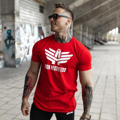Ultrasoft tričko Iron Aesthetics, červené