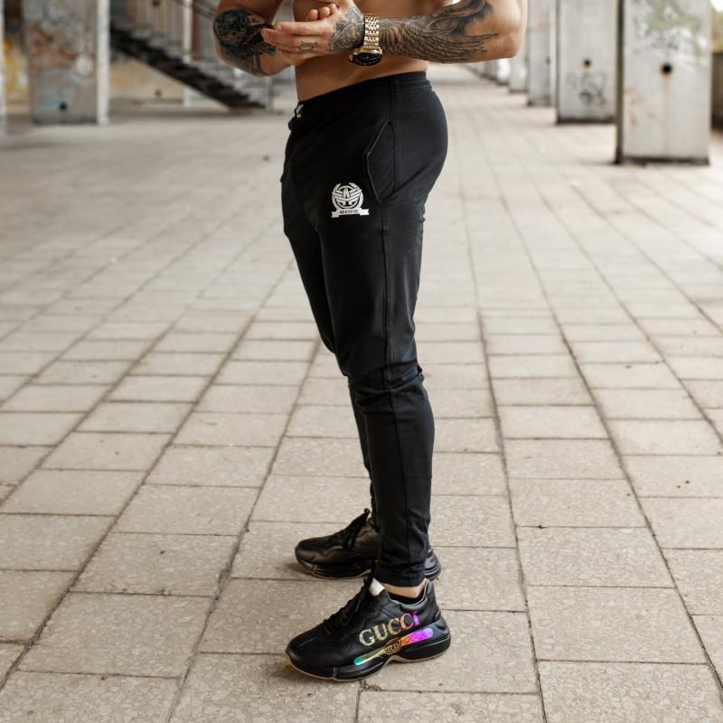 Jogger tepláky Iron Aesthetics TRIUMPH, černé-5