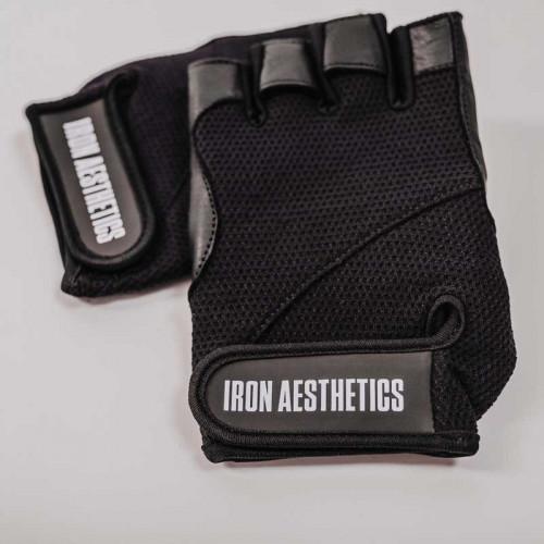 Fitness rukavice Iron Aesthetics, černé