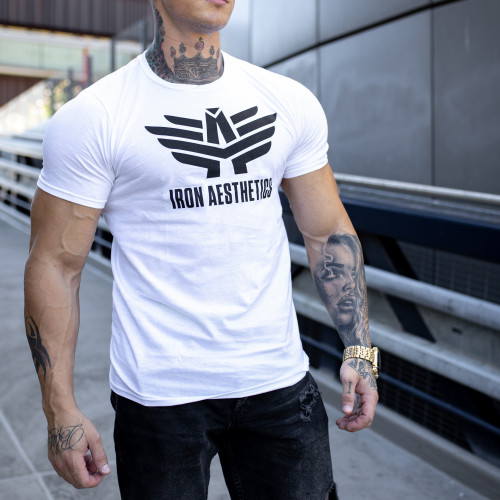 Ultrasoft tričko Iron Aesthetics W&B, bílé
