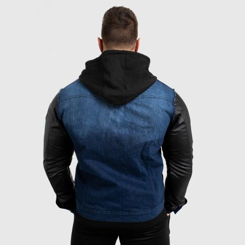 Pánská RIFLOVÁ bunda Iron Aesthetics, modrá