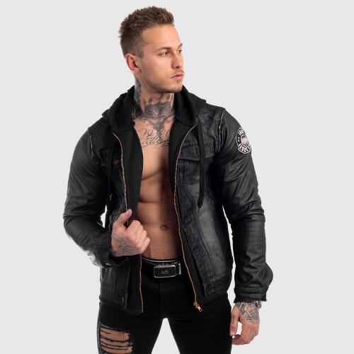 Pánská RIFLOVÁ bunda Iron Aesthetics, černá